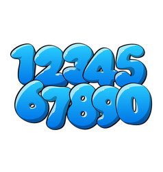 blue numerical digits vector image