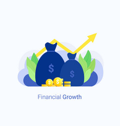 Business growth concept vector