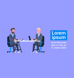 business man on job interview with hr manager two vector image