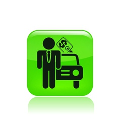 car sale icon vector image