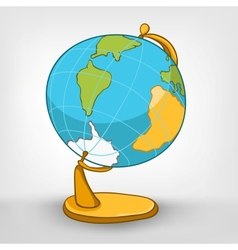 Cartoons world globe vector