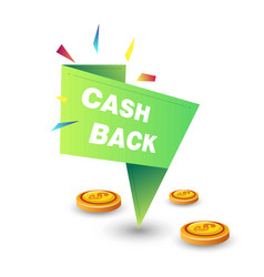 Cash back guarantee economy and shopping money vector