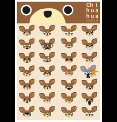 Chihuahua emoji icons vector