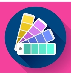 Color guide swatches palette - typographic fan vector image