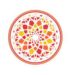 Colorful mandala circular ornament vector