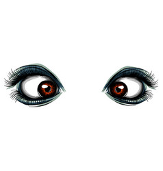 colorful red woman s eyes vector image