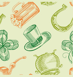 Colorful st patricks day seamless pattern vector