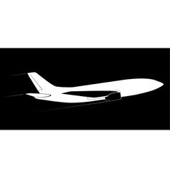 contour of the modern jet aircraft side view vector image