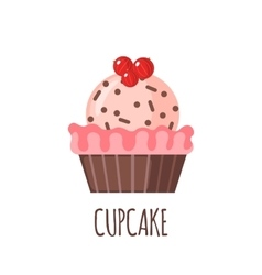Cute cupcake icon vector