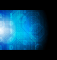 dark blue technology background with binary code vector image