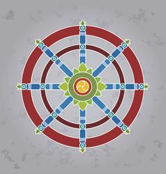 dharma wheel vector image