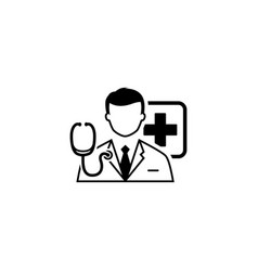 doctor consultation icon flat design vector image
