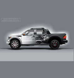 editable template for wrap suv with black and vector image