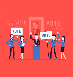 Election campaign voting vector