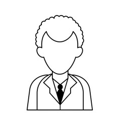 Faceless businessman icon image vector