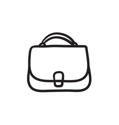 female handbag sketch icon vector image