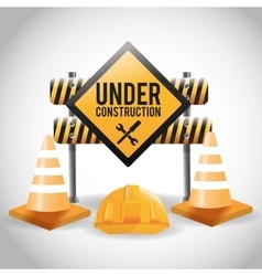 Flat about under construction design vector image