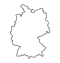 Germany map icon outline style vector image
