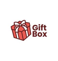 gift box logo icon vector image