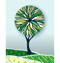 Green tree nature environment concept vector