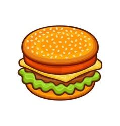 Hamburger Icon on White Background Cartoon Style vector image