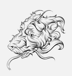 hand drawn fantastic dragon vector image