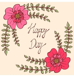Happy day Vintage colorful background with vector image