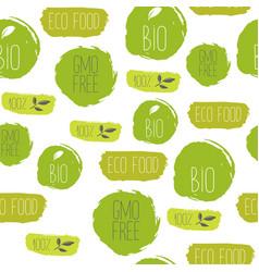 Healthy food iseamles pattern organic texture vector