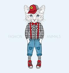 Humanimal kitty boy vector