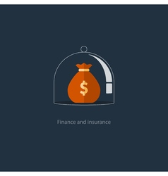 Insurance finance management budget plan pension vector