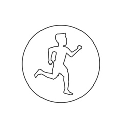 Isolated runner man inside circle design vector