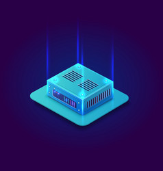 isometric 3d blockchain vector image