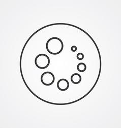 loading outline symbol dark on white background vector image