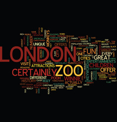 london zoo text background word cloud concept vector image