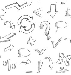 mathematics and punctuation symbols seamless vector image