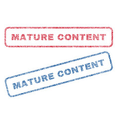 Mature content textile stamps vector