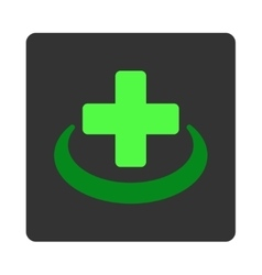 Medical community flat button vector