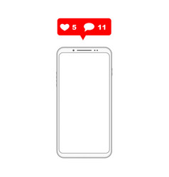 mobile phone notifications vector image