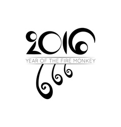 Monkey tails logo of 2016 year vector image