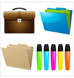 Office icons and elements vector