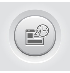 Online Shopping Icon Grey Button Design vector