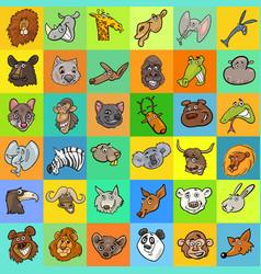 pattern with cartoon animals design vector image