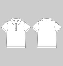 polo t-shirt design template on gray background vector image