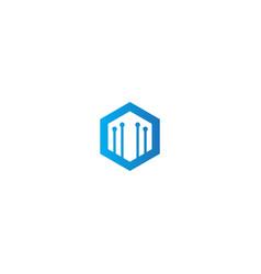 polygon technology design logo vector image