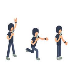 popular modern singer performer soloist isometric vector image
