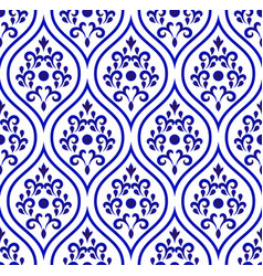 Porcelain pattern seamless desing vector