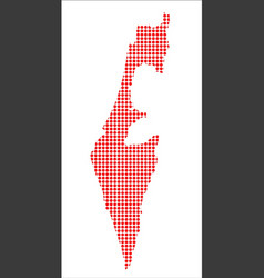 Red dot map of israel vector