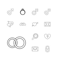 Romance icons vector