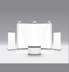 scene show podium for presentations vector image