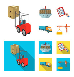 sea freight signature delivery documents vector image